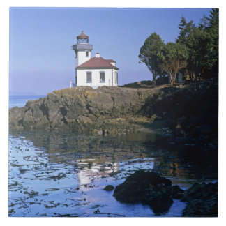 WA, San Juan Island, Lime Kiln lighthouse Tile