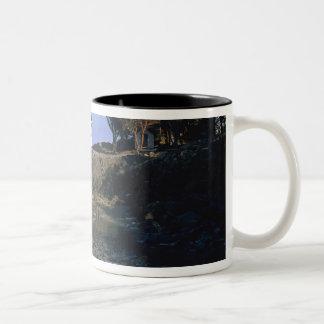 WA, San Juan Island, Lime Kiln lighthouse Two-Tone Coffee Mug