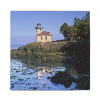 WA, San Juan Island, Lime Kiln lighthouse Wood Coaster
