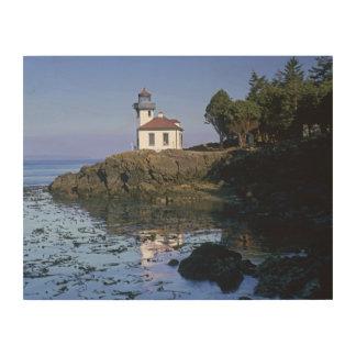 WA, San Juan Island, Lime Kiln lighthouse Wood Wall Art