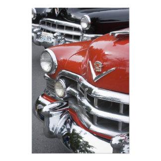 WA, Seattle, automóvil americano clásico. 2 Fotografías