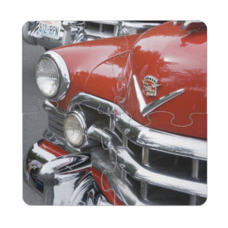 WA, Seattle, automóvil americano clásico Posavasos De Puzzle