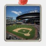 WA, Seattle, campo de Safeco, béisbol de los Adorno Navideño Cuadrado De Metal