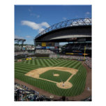 WA, Seattle, campo de Safeco, béisbol de los marin Póster