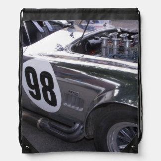 WA, Seattle, classic American automobile. 2 Drawstring Backpack