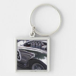 WA, Seattle, classic American automobile. 2 Silver-Colored Square Keychain