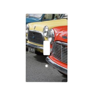 WA, Seattle, classic British automobile. Light Switch Cover