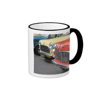WA, Seattle, classic British automobile. Mugs