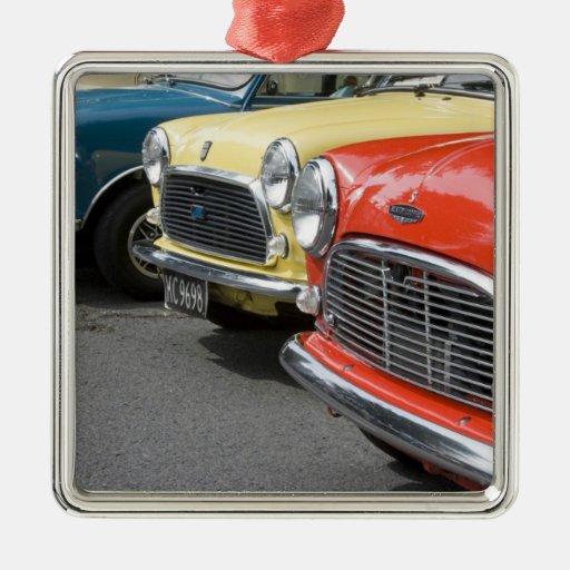 WA, Seattle, classic British automobile. Christmas Ornaments