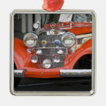 WA, Seattle, classic German automobile. 2 Square Metal Christmas Ornament
