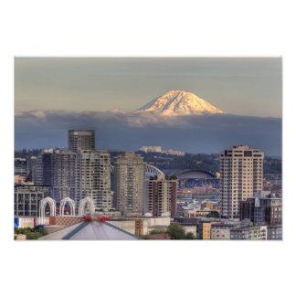 WA, Seattle, el Monte Rainier del parque de Kerry Impresion Fotografica