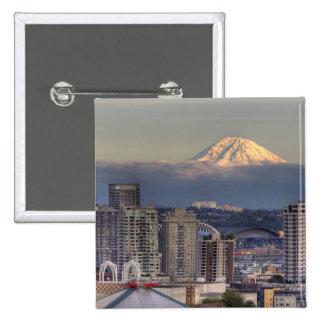 WA, Seattle, el Monte Rainier del parque de Kerry Pin Cuadrado