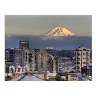 WA, Seattle, el Monte Rainier del parque de Kerry Postal
