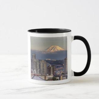 WA, Seattle, el Monte Rainier del parque de Kerry Taza