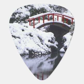 WA, Seattle, Moon bridge and pond after winter 2 Guitar Pick