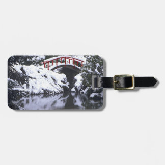 WA, Seattle, Moon bridge and pond after winter 2 Luggage Tag