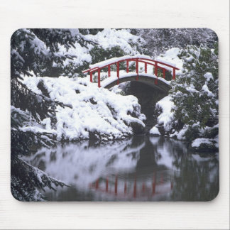 WA, Seattle, Moon bridge and pond after winter 2 Mouse Pad