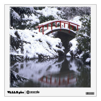 WA, Seattle, Moon bridge and pond after winter 2 Wall Decal