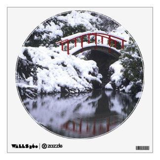 WA, Seattle, Moon bridge and pond after winter 2 Wall Sticker