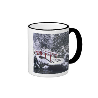 WA, Seattle, Moon bridge and pond after winter Coffee Mugs