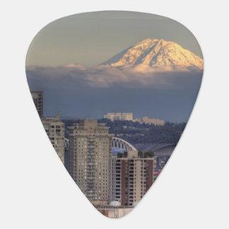 WA, Seattle, Mount Rainier from Kerry Park Guitar Pick