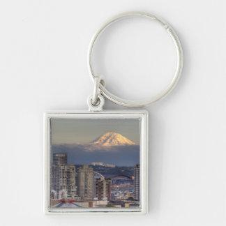 WA, Seattle, Mount Rainier from Kerry Park Key Chain