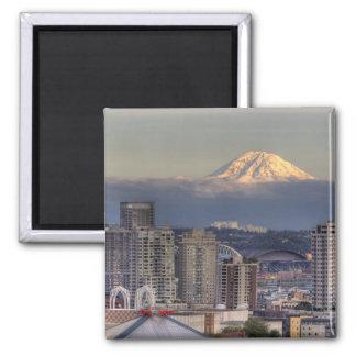 WA, Seattle, Mount Rainier from Kerry Park Magnet