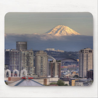 WA, Seattle, Mount Rainier from Kerry Park Mouse Pad