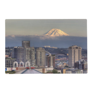 WA, Seattle, Mount Rainier from Kerry Park Placemat