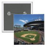 WA, Seattle, Safeco Field, Mariners baseball 2 Inch Square Button