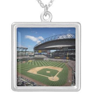 WA, Seattle, Safeco Field, Mariners baseball Silver Plated Necklace