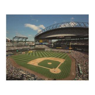 WA, Seattle, Safeco Field, Mariners baseball Wood Wall Art