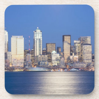 WA, Seattle, Seattle skyline and Elliott Bay, 2 Coaster