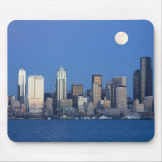 WA, Seattle, Seattle skyline and Elliott Bay 2 Mouse Pad