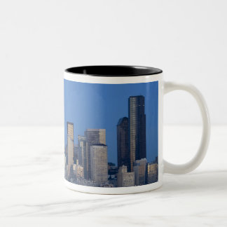 WA, Seattle, Seattle skyline and Elliott Bay 2 Coffee Mugs