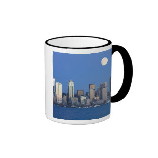 WA, Seattle, Seattle skyline and Elliott Bay 2 Mugs