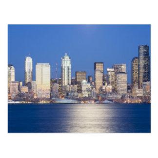 WA, Seattle, Seattle skyline and Elliott Bay, 2 Postcard