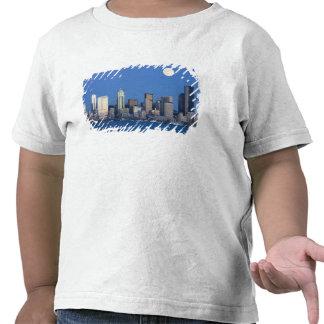 WA, Seattle, Seattle skyline and Elliott Bay 2 T-shirts
