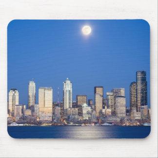 WA, Seattle, Seattle skyline and Elliott Bay 3 Mouse Pad