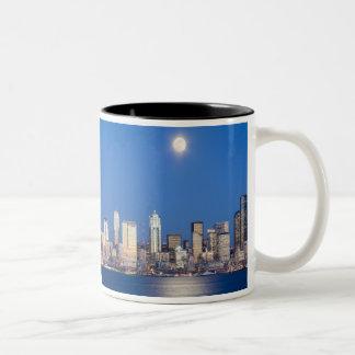 WA, Seattle, Seattle skyline and Elliott Bay 3 Coffee Mug