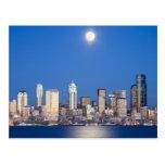WA, Seattle, Seattle skyline and Elliott Bay 3 Postcards