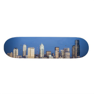 WA, Seattle, Seattle skyline and Elliott Bay 3 Skateboard