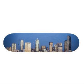 WA, Seattle, Seattle skyline and Elliott Bay 3 Skateboard