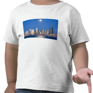 WA, Seattle, Seattle skyline and Elliott Bay 3 Tshirts