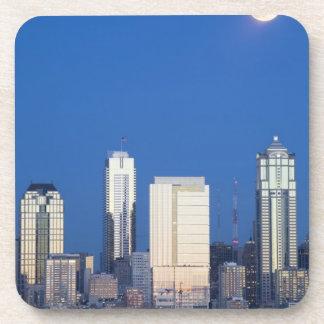 WA, Seattle, Seattle skyline and Elliott Bay 4 Drink Coasters