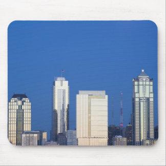 WA, Seattle, Seattle skyline and Elliott Bay 4 Mouse Pad