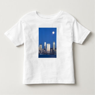 WA, Seattle, Seattle skyline and Elliott Bay 4 Toddler T-shirt