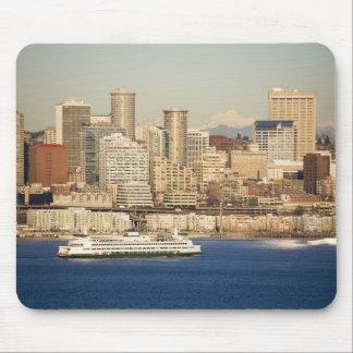 WA, Seattle, Seattle skyline and Elliott Bay Mouse Pad