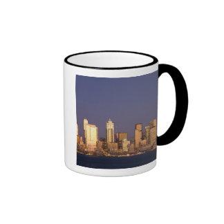 WA, Seattle, Seattle skyline and Elliott Bay, Coffee Mugs