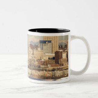 WA, Seattle, Seattle skyline and Elliott Bay Mug